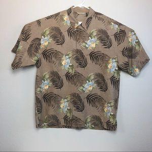 Tommy Bahama Floral Leaf silk Button Down XL